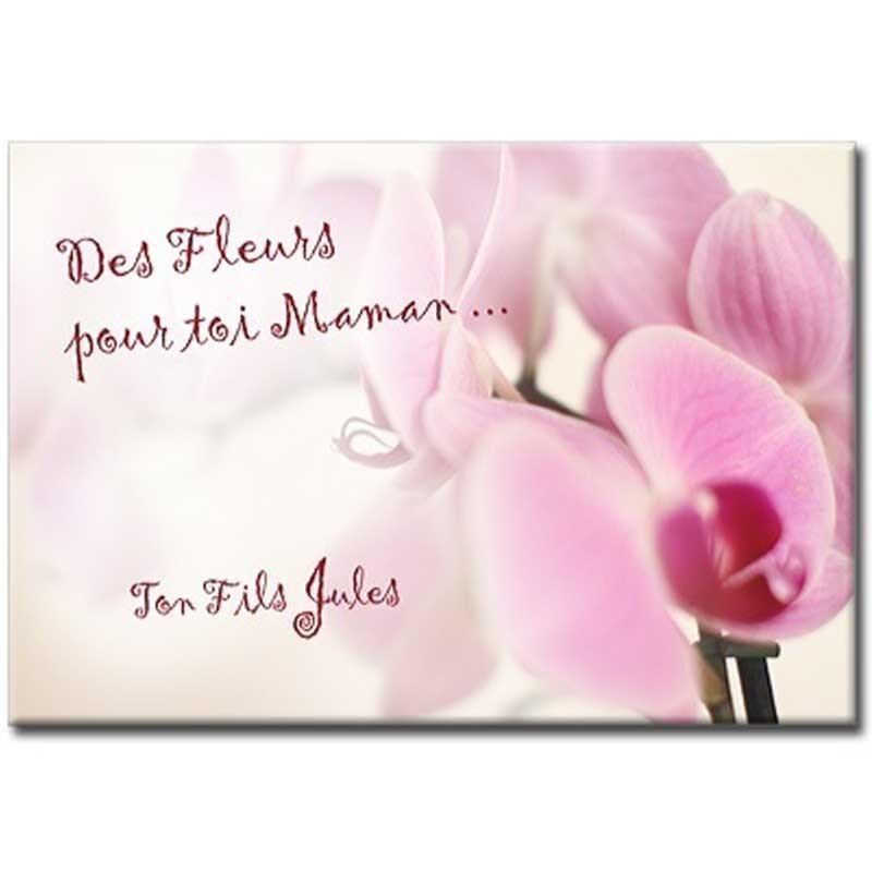 Signe Plaque fait main cadeau fête des mères maman si vous étiez une fleur personnaliser