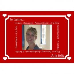 plaque message d'amour