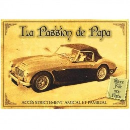 plaque fête des pères voiture vintage