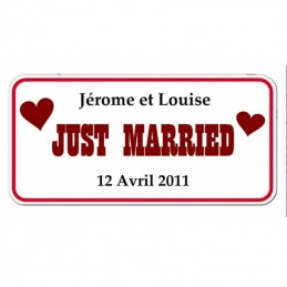 Plaque de ville Just Married