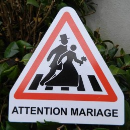 plaque triangle attention mariage