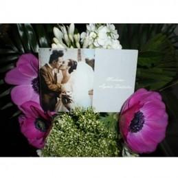 plaque avec photo pour mariage