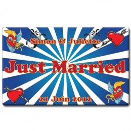 plaque plexi just married coeurs