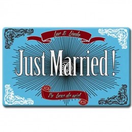 plaque plexi just married déco