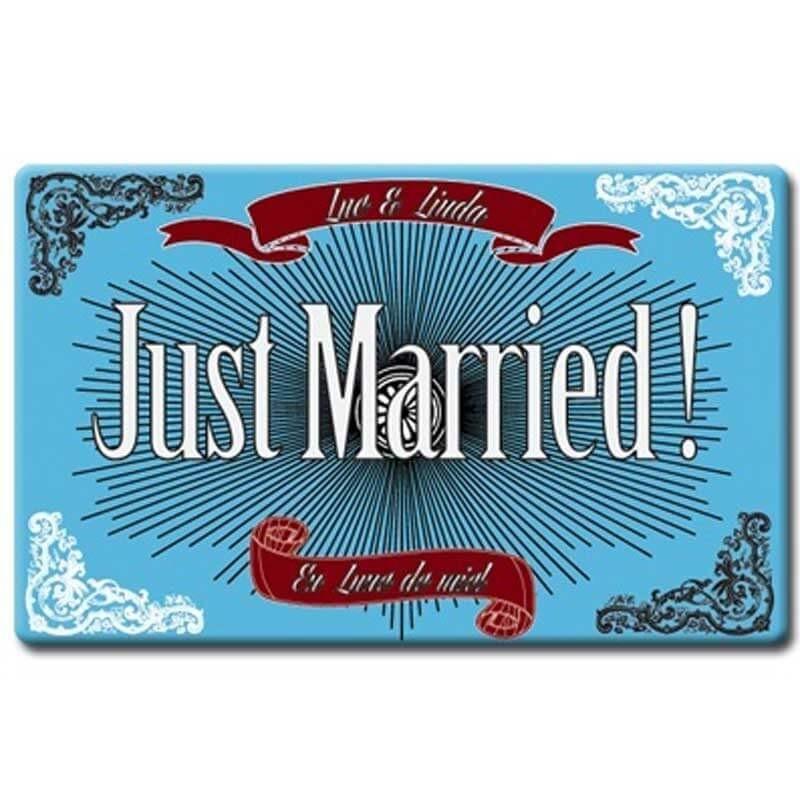 plaque plexi just married déco