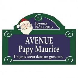 plaque fronton parisienne père noël