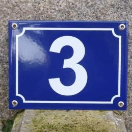 numéro de rue bleu