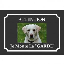 plaque personnalisée 1 photo chien