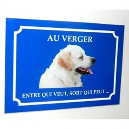 plaque chien 1 photo