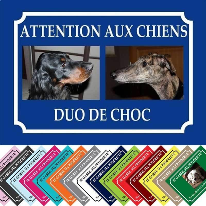 plaque chien personnalisé 2 photos