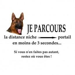 plaque mise en garde avec photo de votre chien