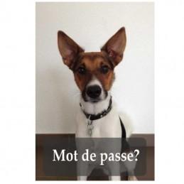 plaque format portrait chien