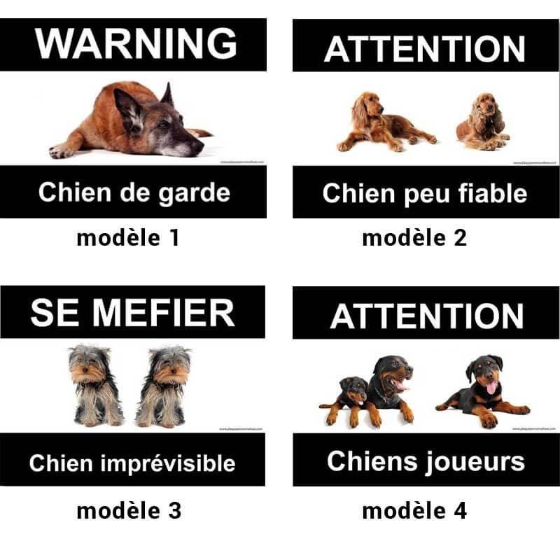 plaque chiens divers races