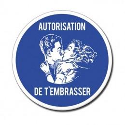 autorisation de t'embrasser