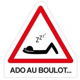 plaque attention sieste