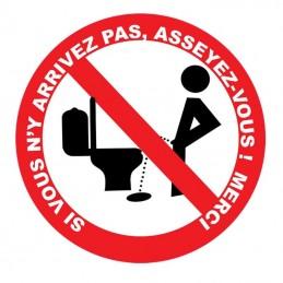 plaque humour propreté toilettes