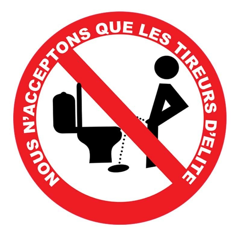 plaque humour toilettes