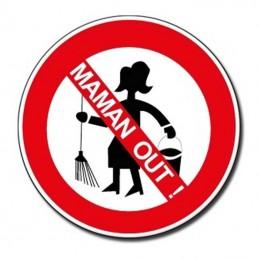 plaque ménage interdit