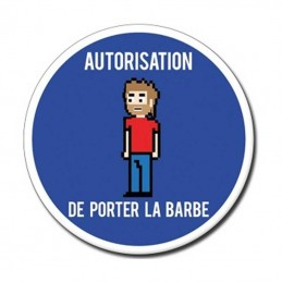 plaque autorisation de porter la barbe
