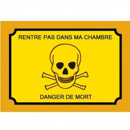 plaque attention danger