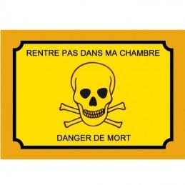 plaque attention danger