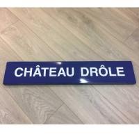 Reproduction plaque métropolitain Paris en Email - pour déco originale
