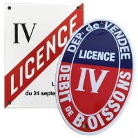 Plaque Licence IV