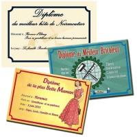 Dipôme à offrir pour fête de mères, pères, retraite Impression sur pvc