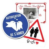 Une marque d'amour, avec cette plaque pour la Saint Valentin à offrir