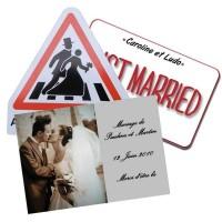 Plaque pour décoration mariage - Panneau humour à offrir aux mariés