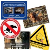 Panneau chien de garde personnalisée Pvc - Métal - avec photos+texte