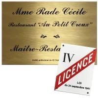 Gravure plaque pour restaurant et restaurateur - Signalétique pro