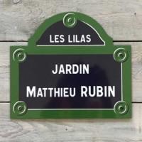 Plaque de Paris émaillée - Plaques de rue Paris- à Personnaliser