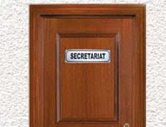 plaque de porte