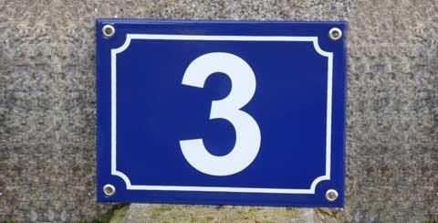 Numéro de rue en émail